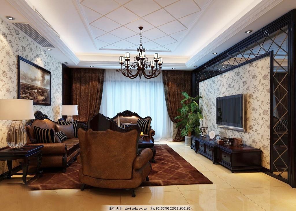 客厅装潢 客厅设计 装饰 装修 地板 吊顶 沙发 小桌 电视柜