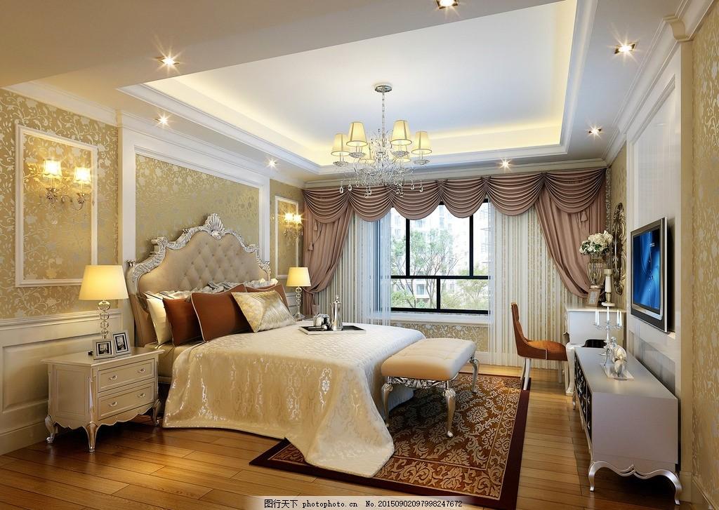 卧室 卧室设计 装饰 装修 地板 吊顶 电视柜 装饰装修 效果图