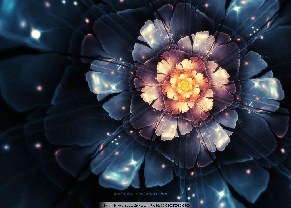绚丽的花朵背景