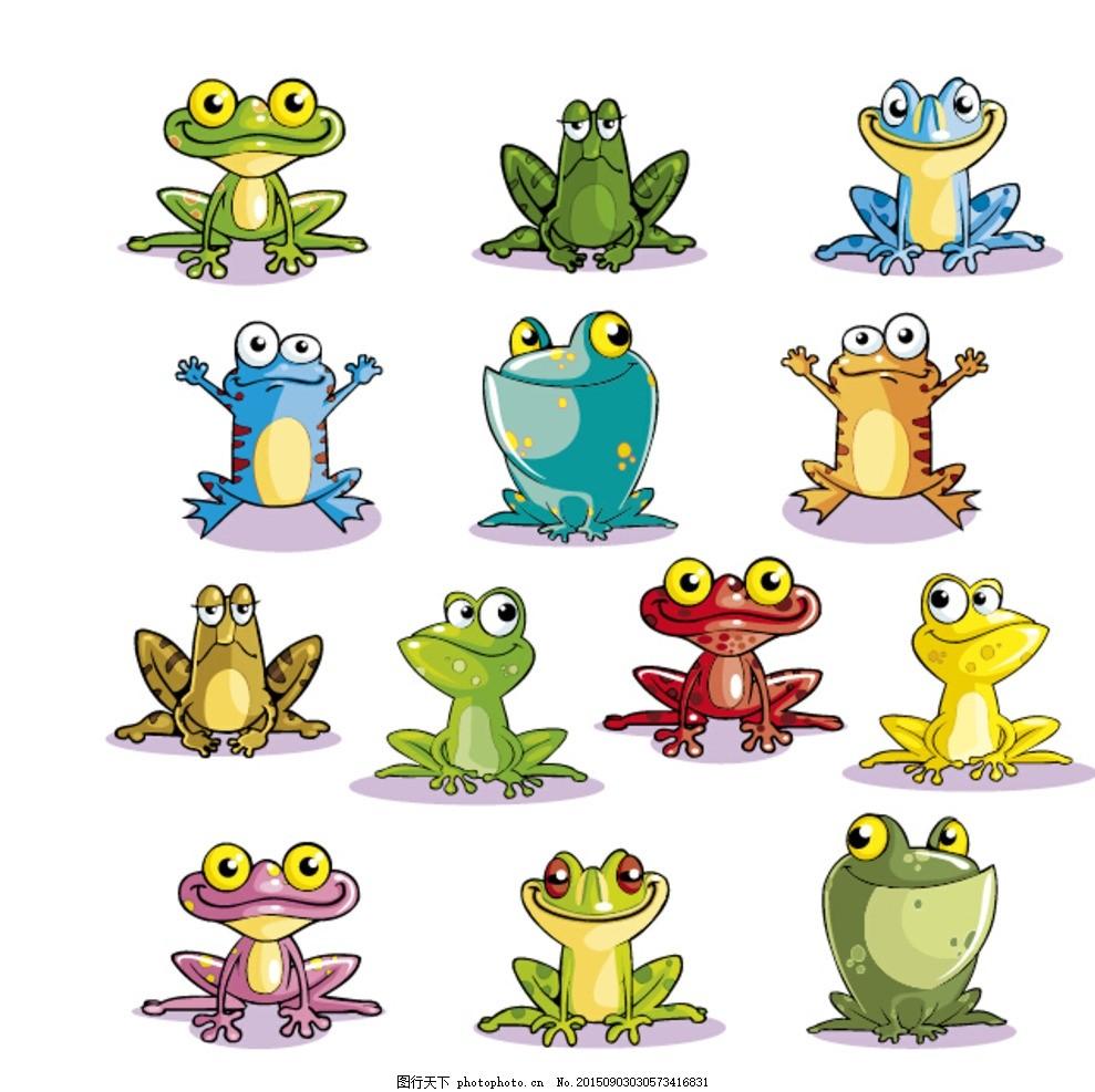 卡通 青蛙 青蛙 大眼睛 可爱青蛙 卡通 动物 矢量素材 设计 广告设计