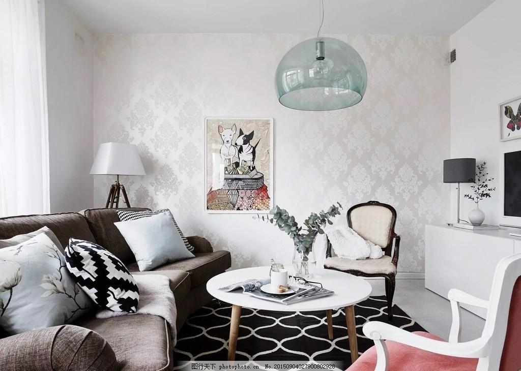 北欧宜家风格装修 家装 室内 优雅 装修效果图 住宅 现代简约