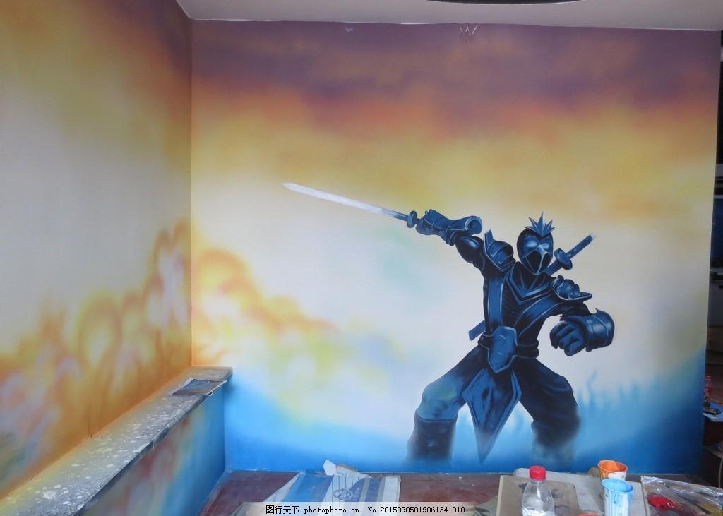 园手绘 幼儿园素材 卡通外墙素材 幼儿园彩绘 色块拼接 卡通蓝天白云
