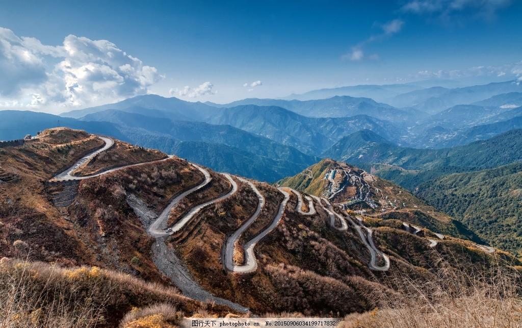 蜿蜒山路 盘山路 山路图片 马路风景 公路风景 山脉 美丽风景 美丽