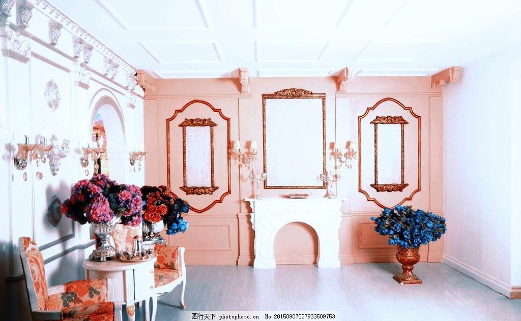 婚纱场景 婚纱背景 婚纱片场 欧式墙面 桌凳 素材 摄影 建筑园林 室内