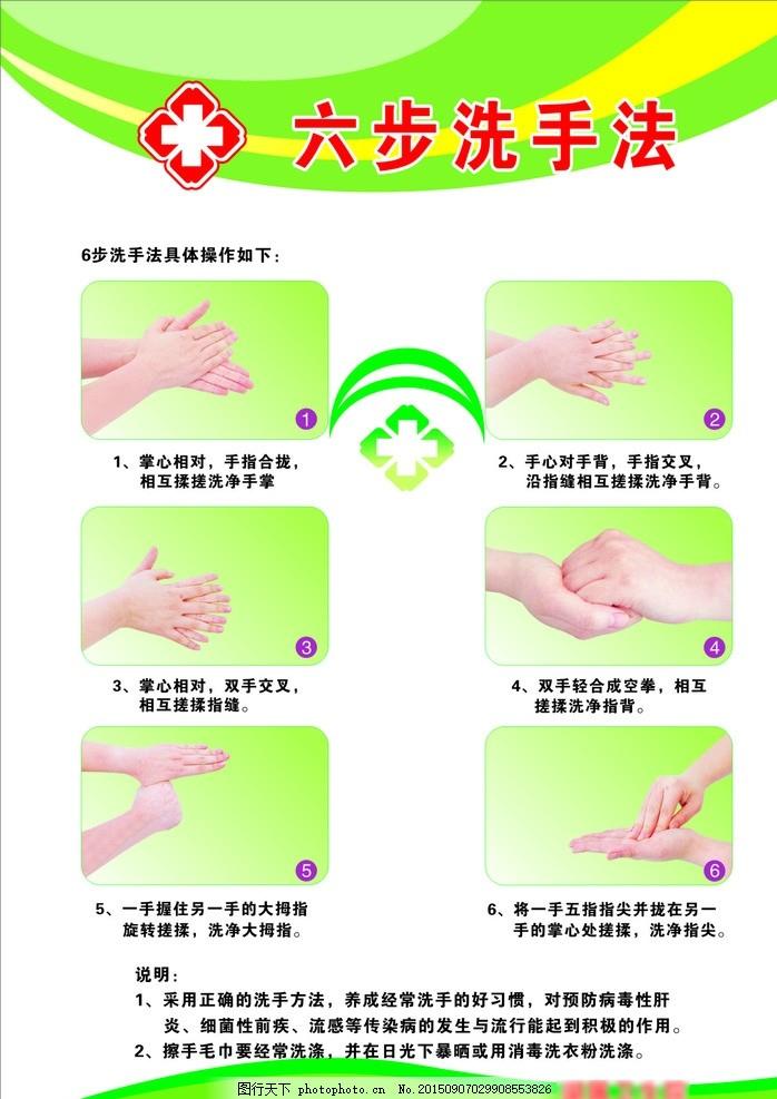 洗手六步法 六步洗手法 六步 洗手法 洗手法步骤 卫生 消毒 医院 洗手