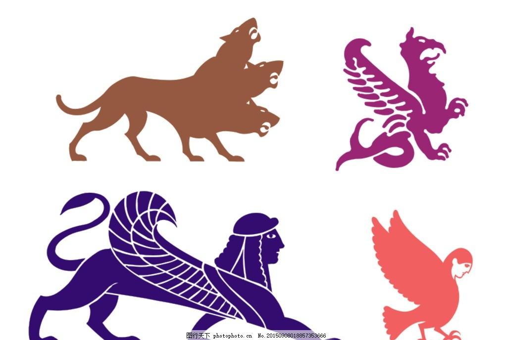 四不像 矢量图 人物矢量图 动物矢量图 希腊神话 插图 小图标