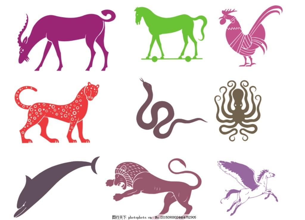 动物 矢量图 动物矢量图 希腊神话 插图 小图标 矢量图素材 古希腊