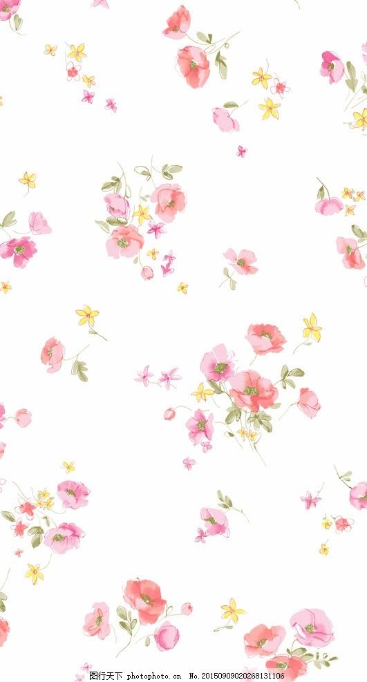 白底红花 面料花型 黑底线条 玫瑰花 面料花型 印花图案 面料印花