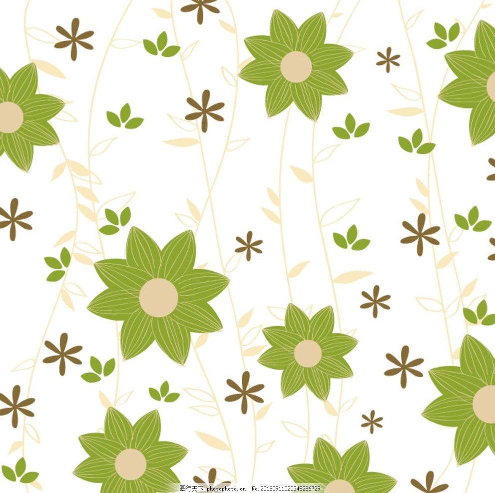 植物花卉 花朵 几何 线条 叶子
