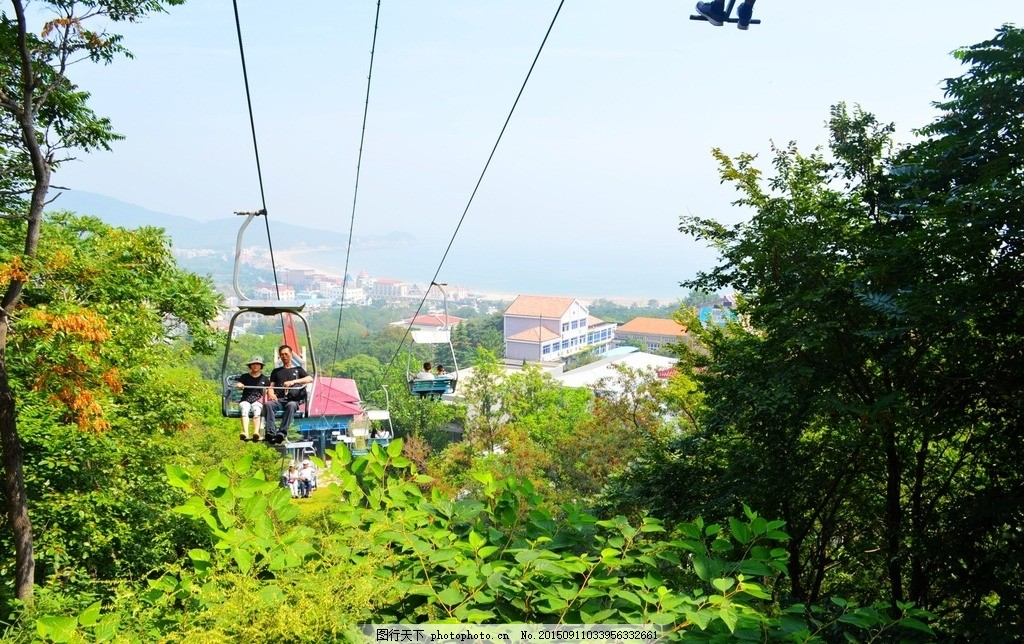 崂山仰口 青岛 崂山 仰口 索道 景区 缆车 摄影 摄影 旅游摄影 国内
