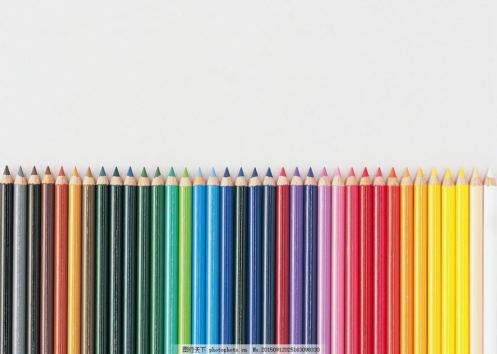 彩铅 彩色铅笔 彩虹 颜色 色彩 鲜艳 绚烂 彩铅 铅笔 画笔 彩色 学习