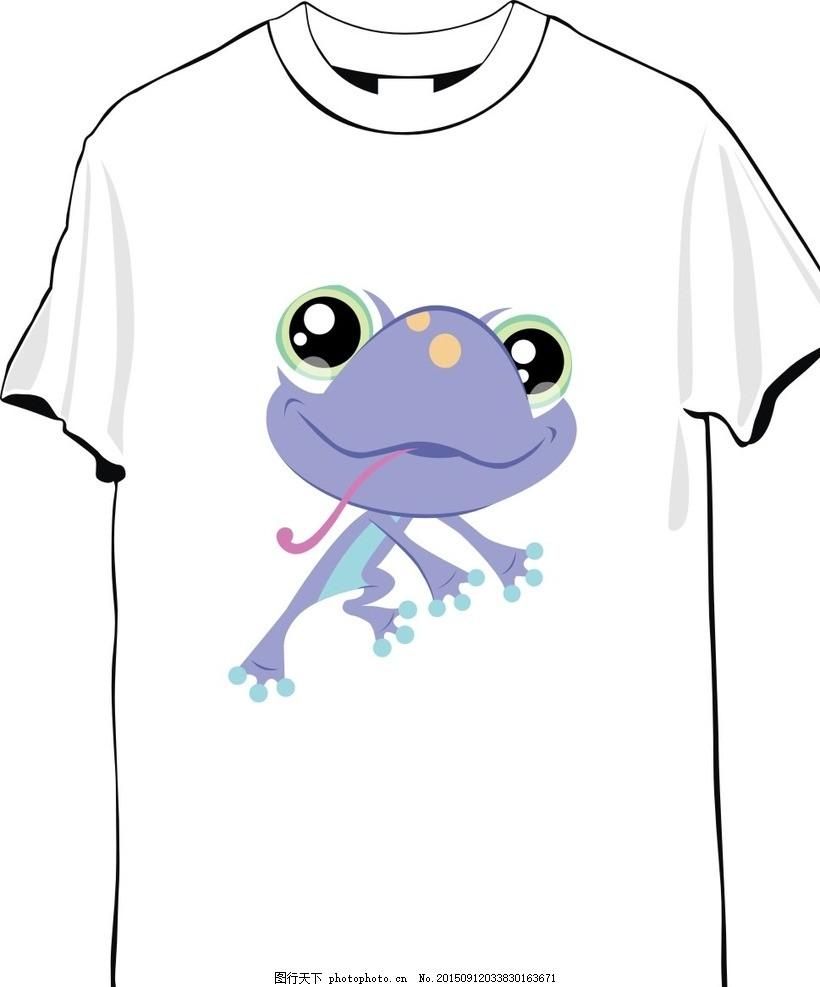 动物图案t恤 可爱t恤 白色 涂鸦 手绘 彩色 卡通 矢量图 小动物 可爱
