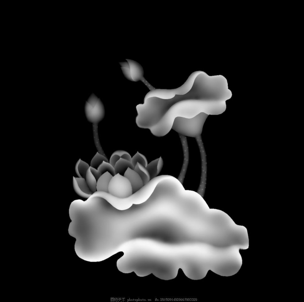 荷叶 浮雕图 灰度图 精雕图 设计图 欧式图 家具图 人物浮雕图 高质量