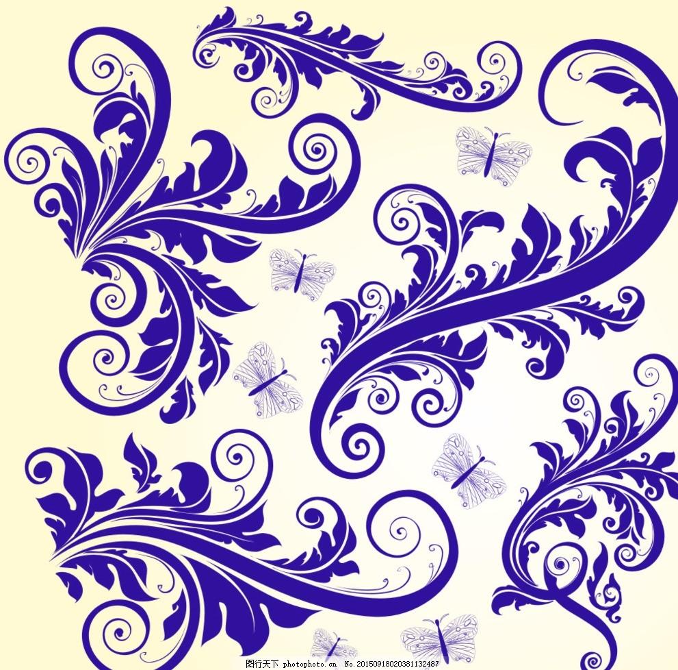 时尚 花纹花边 底纹边框 黑白花纹 精美花纹 喜庆花纹 欧式花纹 时尚