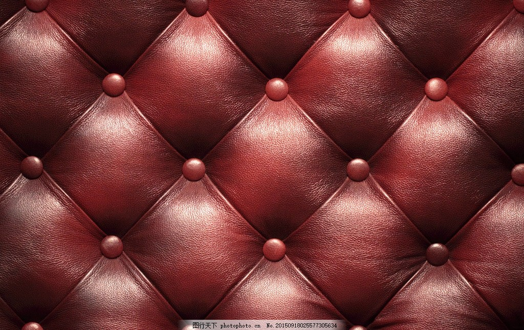 皮革 真皮 沙发 豪华 欧式 奢华 红色 复古 面料纹理素材 摄影