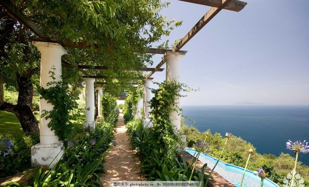 海景园林 欧式园林 园林小景 休闲度假 地产素材 摄影 建筑园林