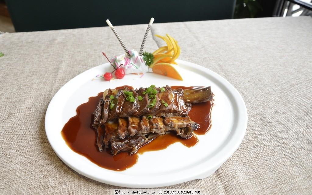 金牌牛肋骨 港式美食 茶餐厅 美味 香港 粤菜 广式 摄影图片
