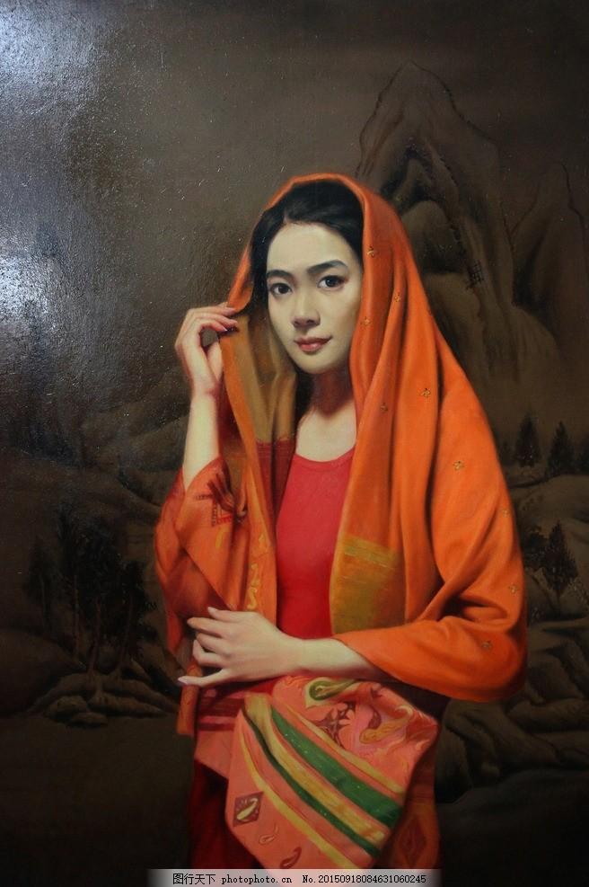 油画女人 美术 人物画 女子 姑娘 丽人 山水画 文化艺术 绘画书法