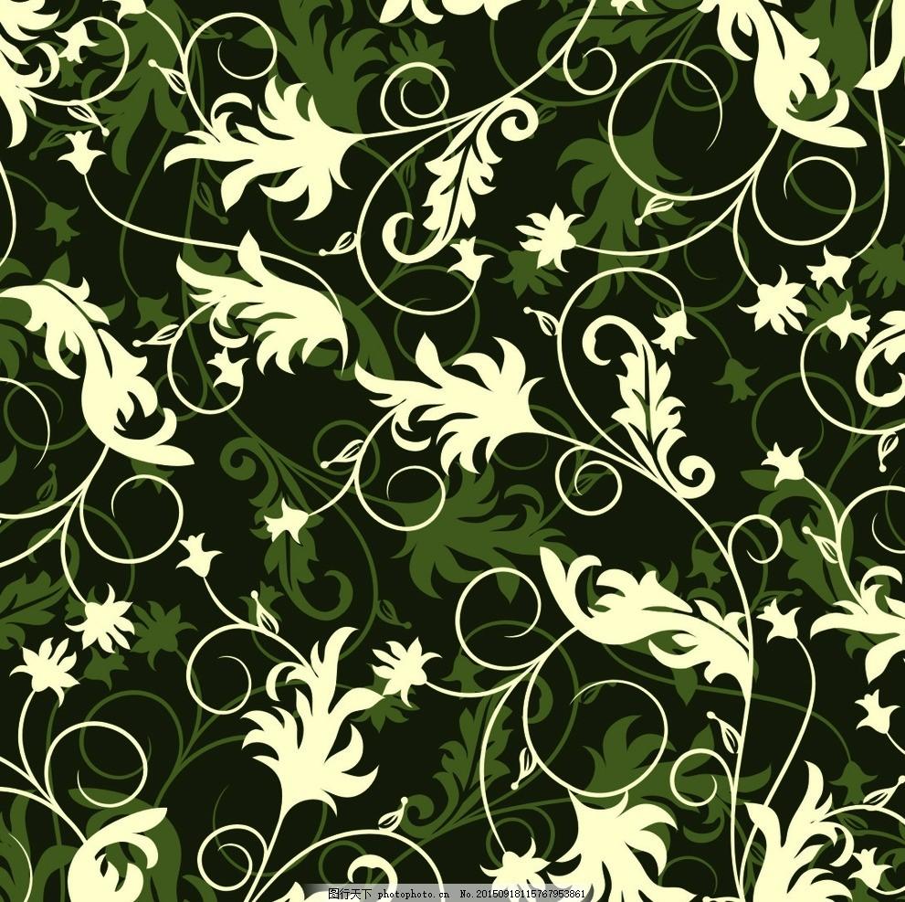 蔓叶 藤蔓 叶子 小花 弯曲 整体 设计 底纹边框 其他素材 cdr