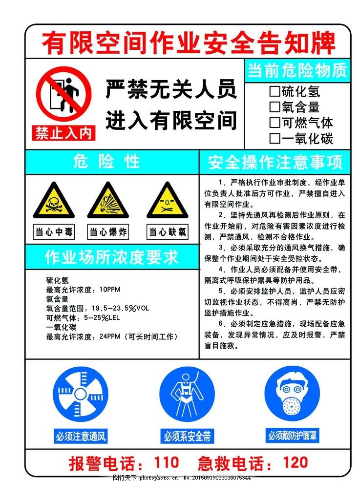 安全告知牌 安全制作牌 安全标识 禁止入内 严禁入内 当心中毒 当心