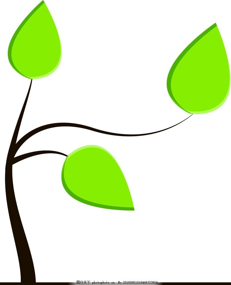 大树 矢量图合集 设计 生物世界 树木树叶 cdr 背景图 设计 动漫动画