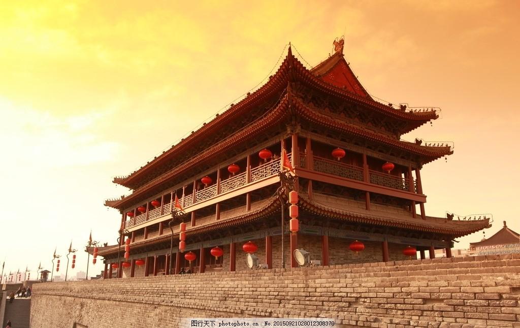 西安古城楼 古城区 长安 古建筑 摄影 建筑园林 建筑摄影