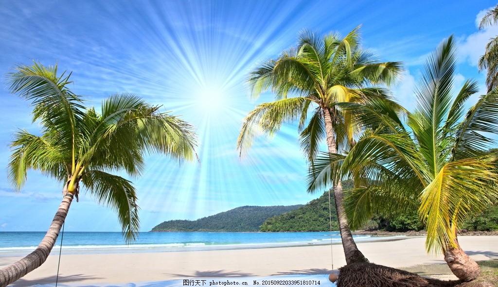 秦皇岛大海 唯美 风景 风光 旅行 自然 海边 沙滩 椰子树 摄影