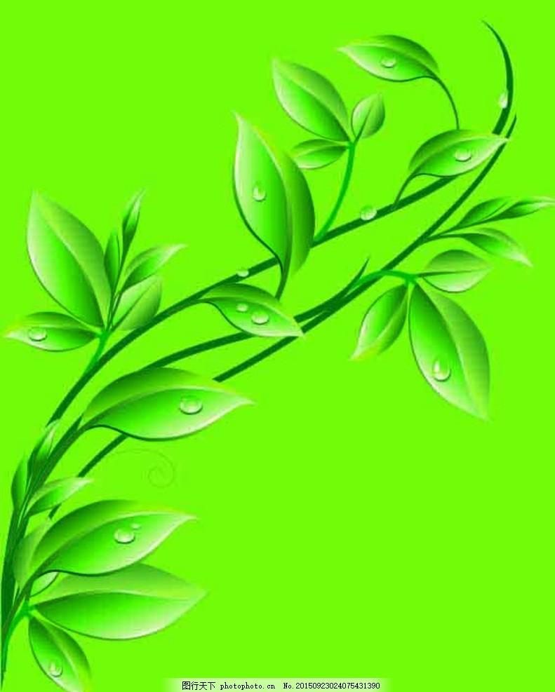 绿色树藤简笔画