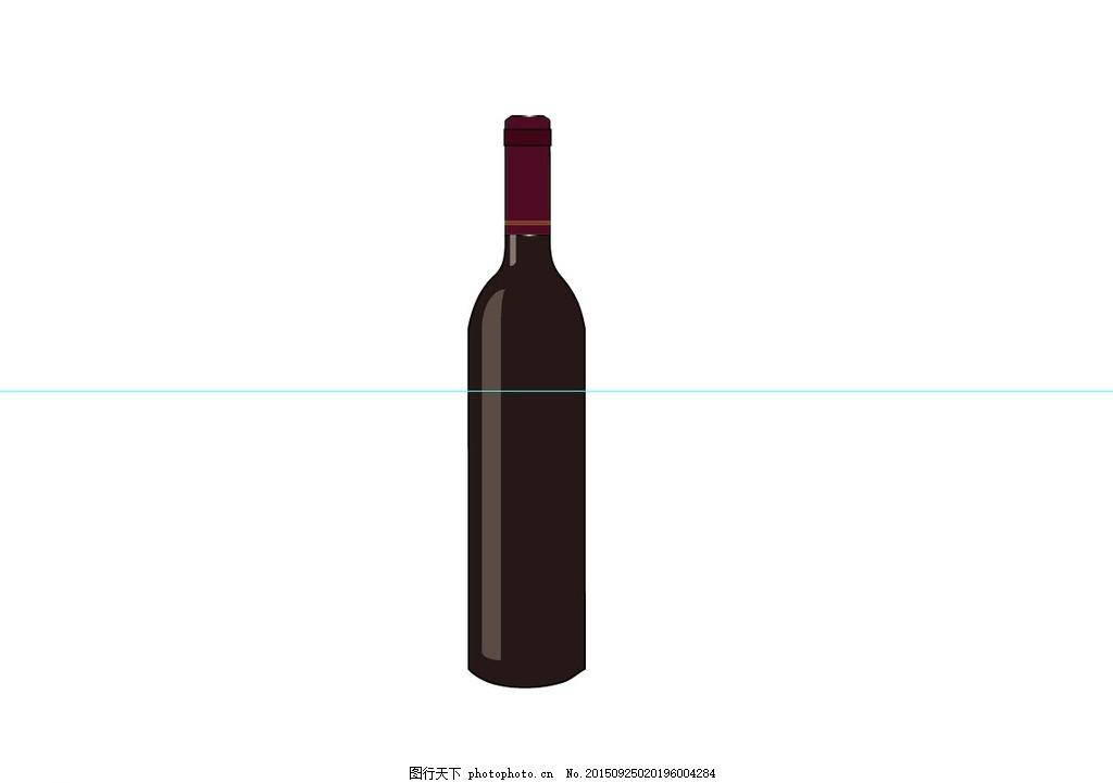 红酒简单logo 酒瓶 矢量图 简笔画 其他图标图片