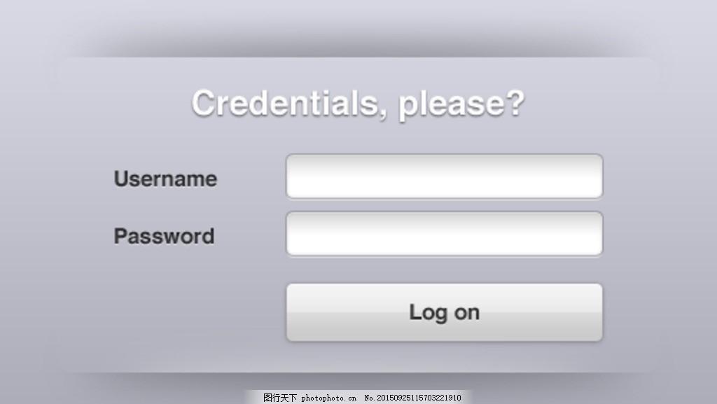 web登录界面设计 简洁 国外 英文模板
