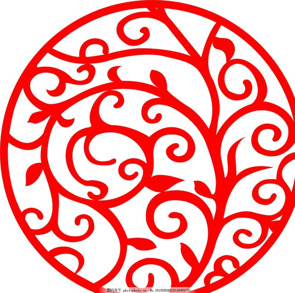 圆形雕花 欧式圆形 藤蔓 家装