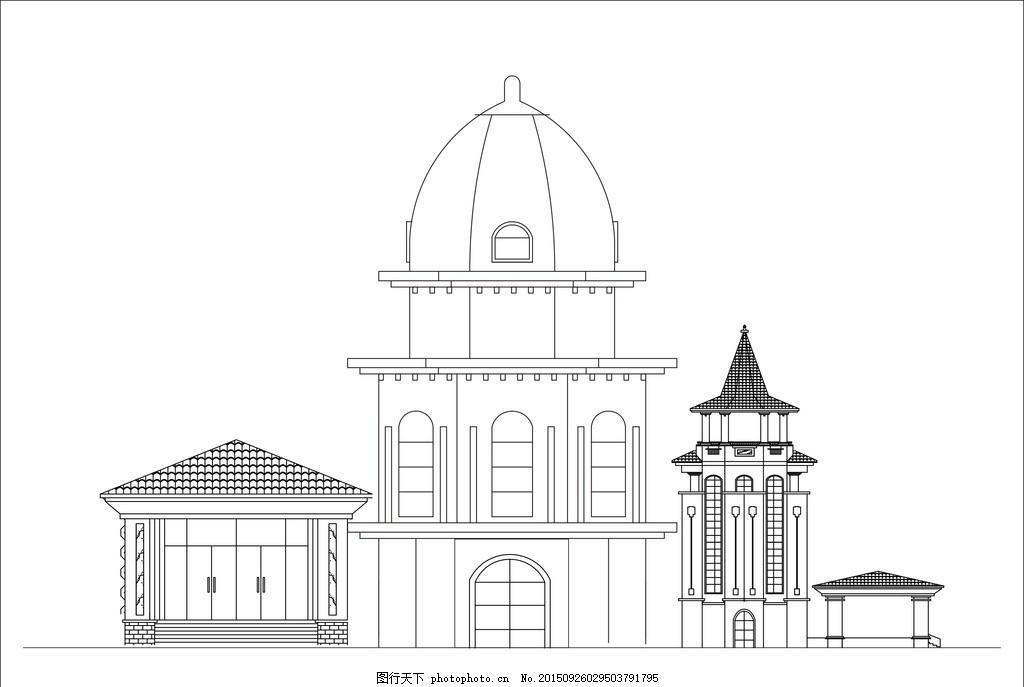 素描建筑 高楼 高楼大厦 建筑物 素描图 线条图 城市 城市建筑