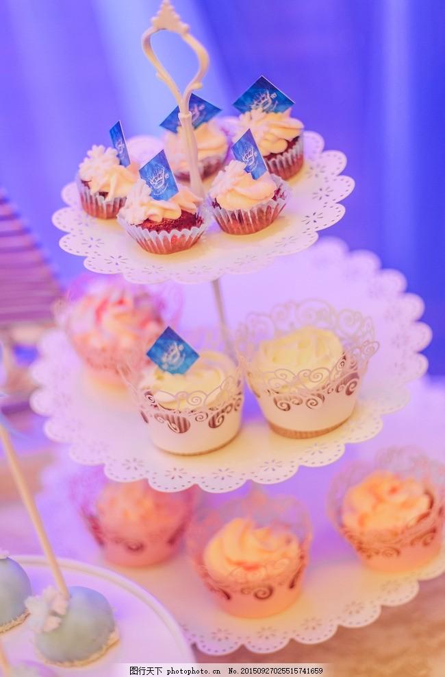 婚礼甜品区 海洋婚礼 粉色 高贵 大气 蛋糕 糕点 甜品 紫色 摄影照片图片