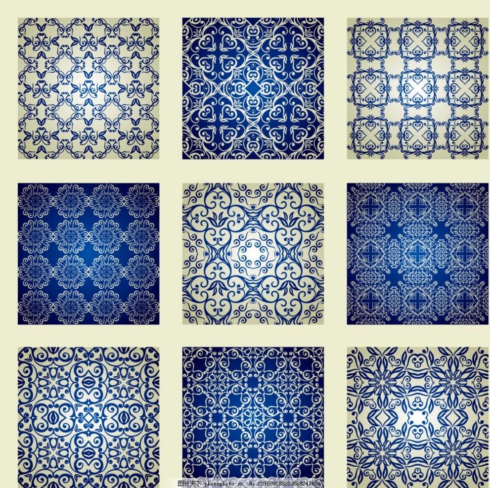 欧式蓝色地毯贴图材质