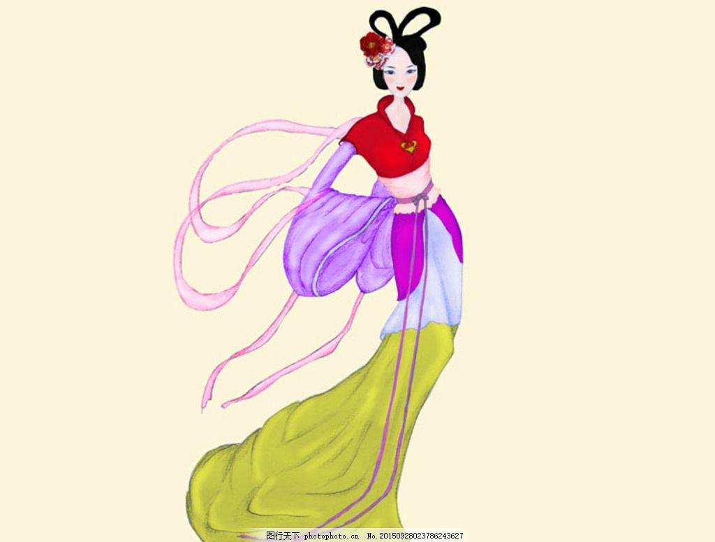 古装美女 古装 美女 嫦娥 中秋 古代女子 古装画 设计 人物图库 女性