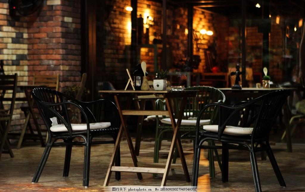 咖啡馆 室外设计 室外成列 木桌 木椅 欧式咖啡 复古咖啡馆 工业风