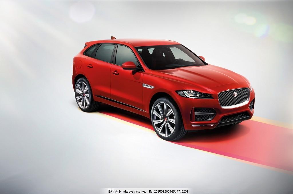 捷豹 suv 越野车 豪车 红色 海报 jaguar f pace r sport 名车 设计