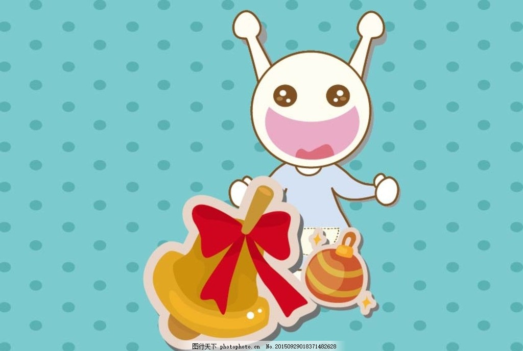 吃货星人冬日礼物 礼物 时尚 可爱动物 卡通壁纸 卡通背景 吃货壁纸