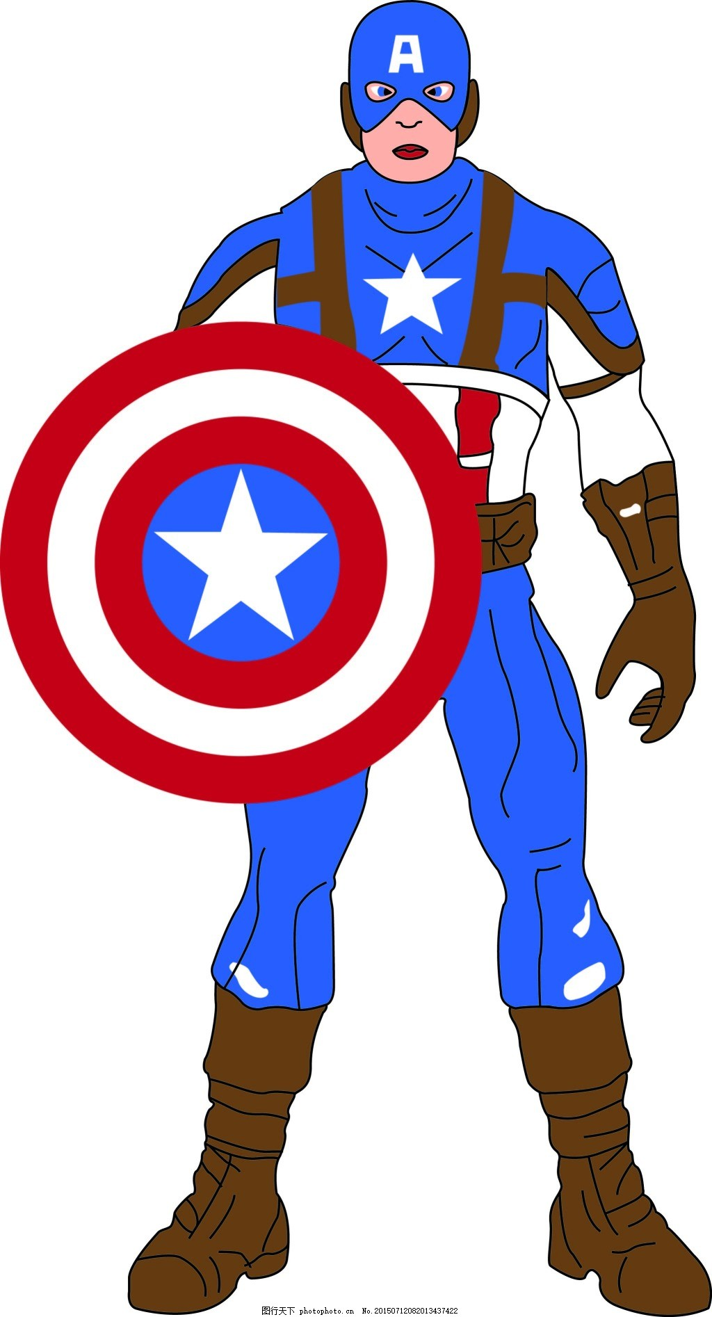 Captain,America,美国队长,漫威,复仇者联盟,卡通,白色