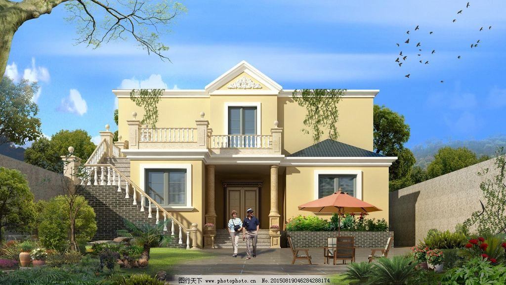 歐式別墅 背景 底圖 環境設計 建筑設計