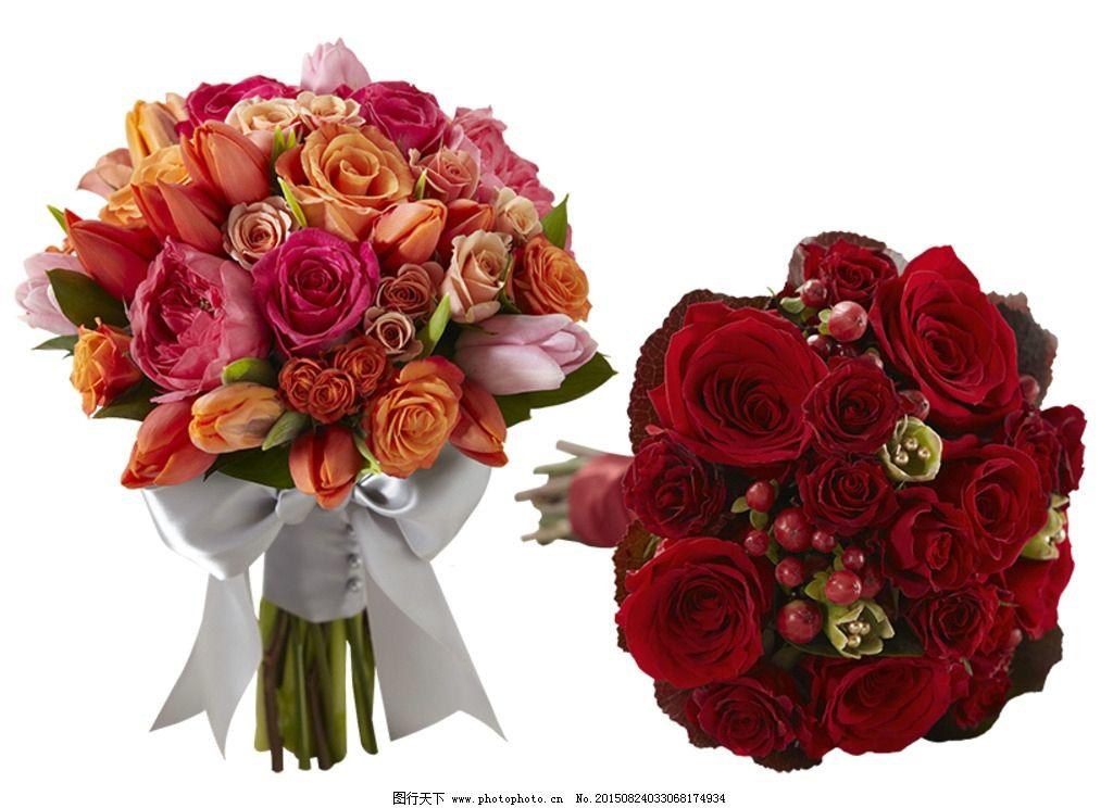 花卉素材 花束 玫瑰花 红玫瑰 橙色玫瑰 粉红玫瑰 玫红色玫瑰